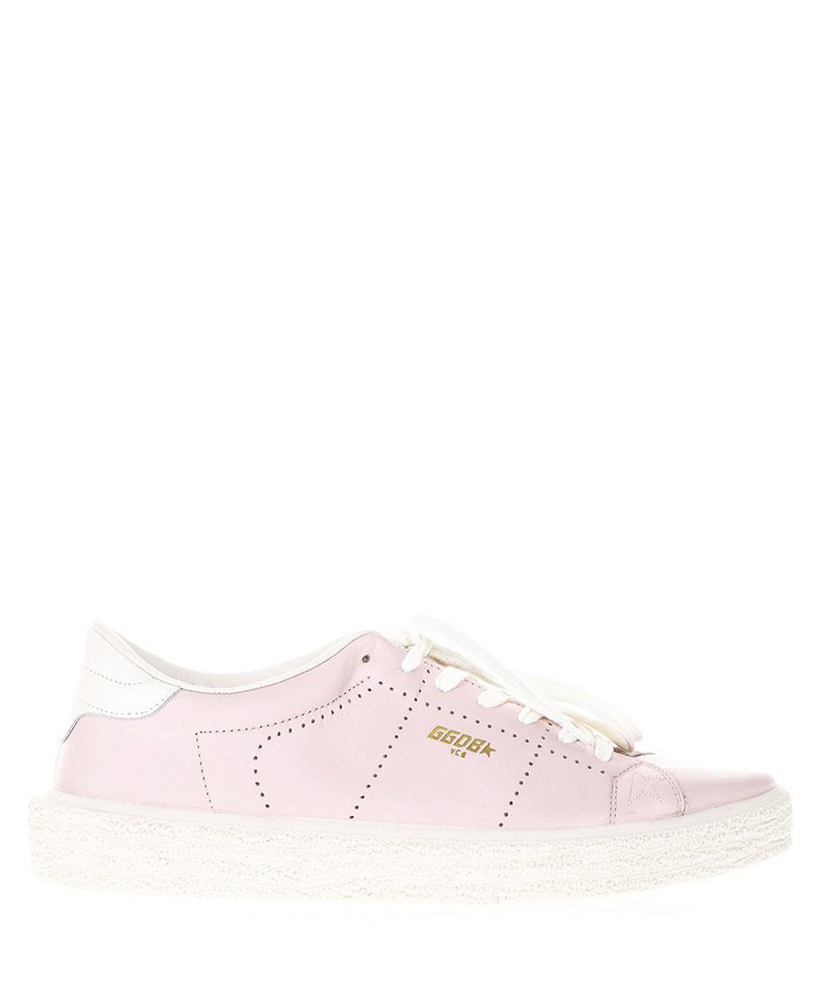 Pink leather tennis sneakers Sale - golden goose