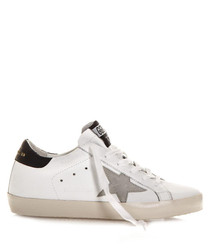 Superstar white & black leather sneakers