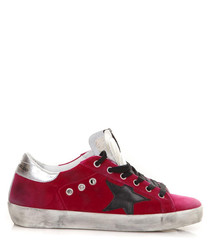 Superstar fuchsia leather sneakers