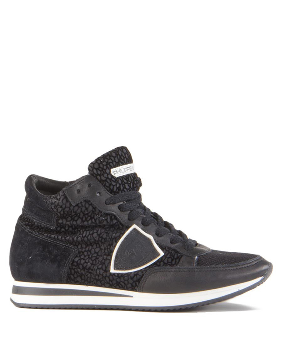 Tropez black leather high-top sneakers Sale - philippe model