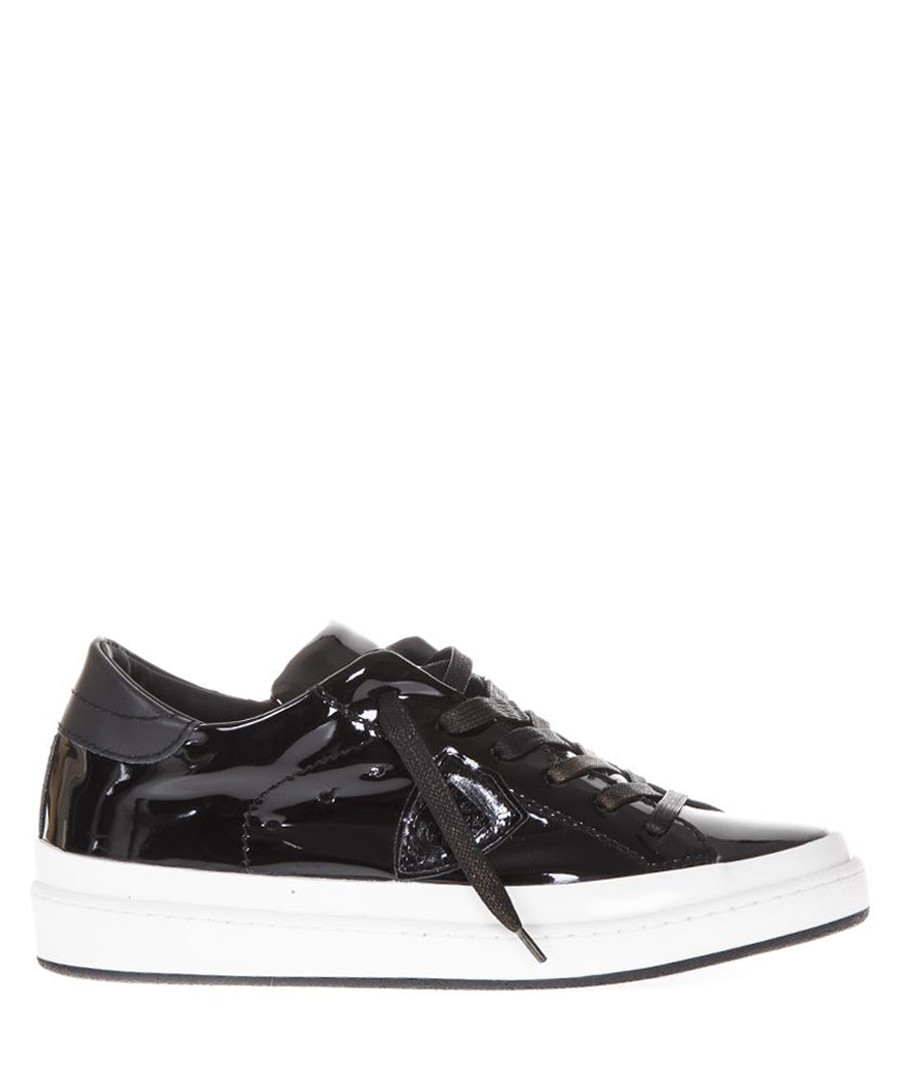 Patent black leather low-top sneakers Sale - philippe model