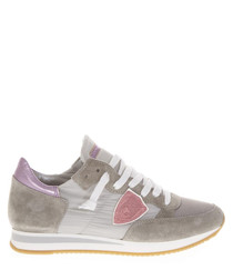 Topez light grey leather sneakers
