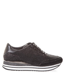 Fugitive black lace-up sneakers