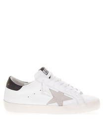 Superstar white & cream leather sneakers