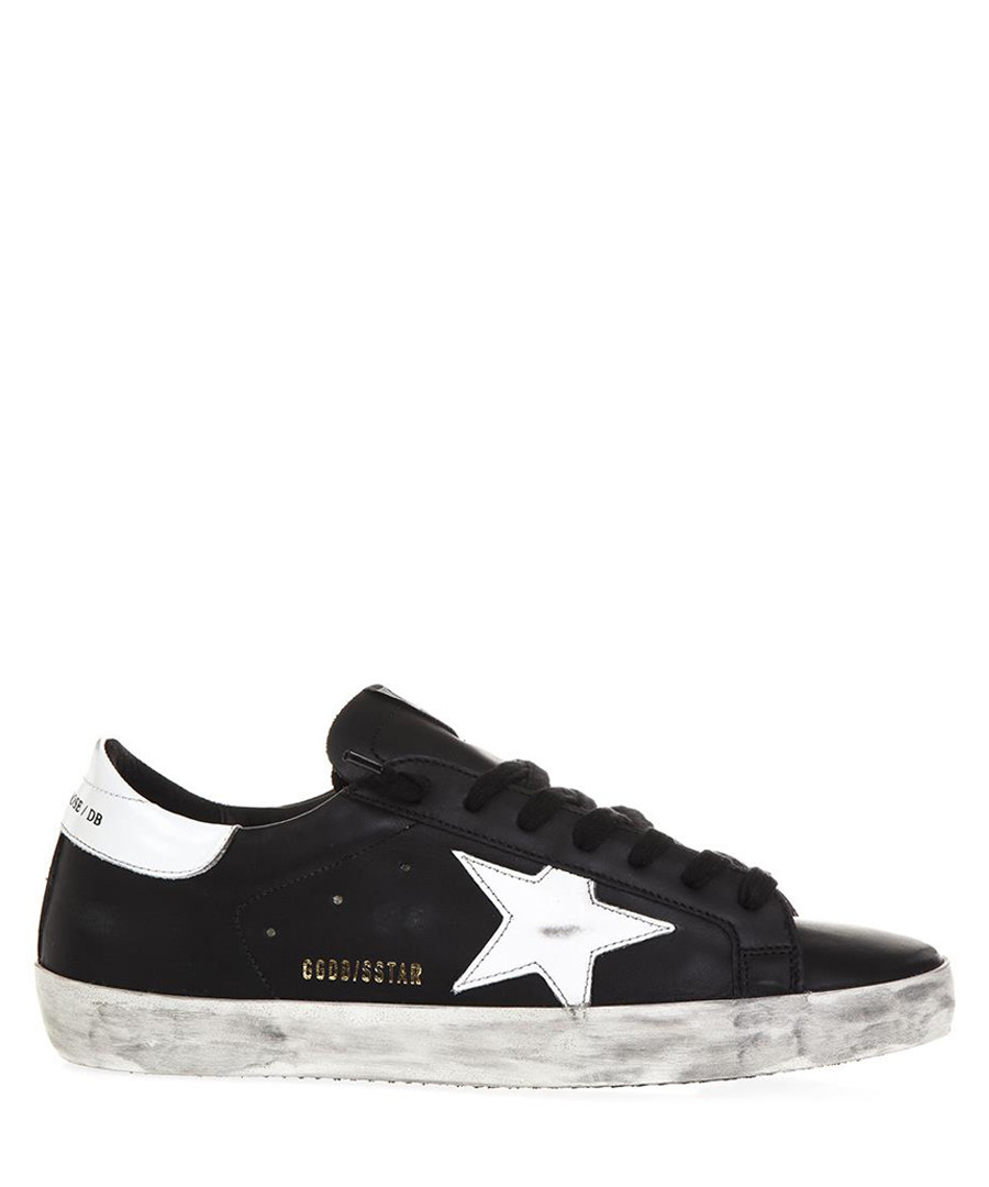 Superstar black & white leather sneakers Sale - GOLDEN GOOSE