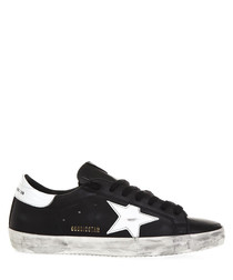 Superstar black & white leather sneakers