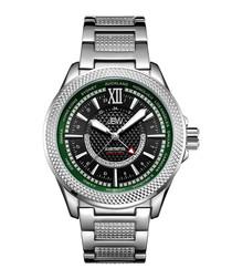 Globetrotter diamond & stainless watch