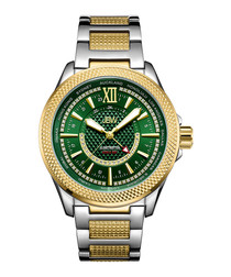 Globetrotter 18k gold-plated diamond watch