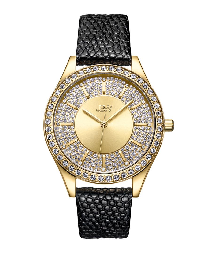 Mondrian 18k gold-plated diamond watch Sale - jbw