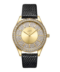 Mondrian 18k gold-plated diamond watch