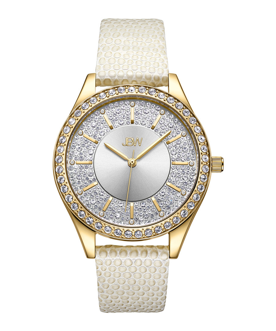 Mondrian 18k gold-plated diamond watch Sale - jbw