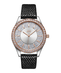 Mondrian 18k rose gold-plated watch