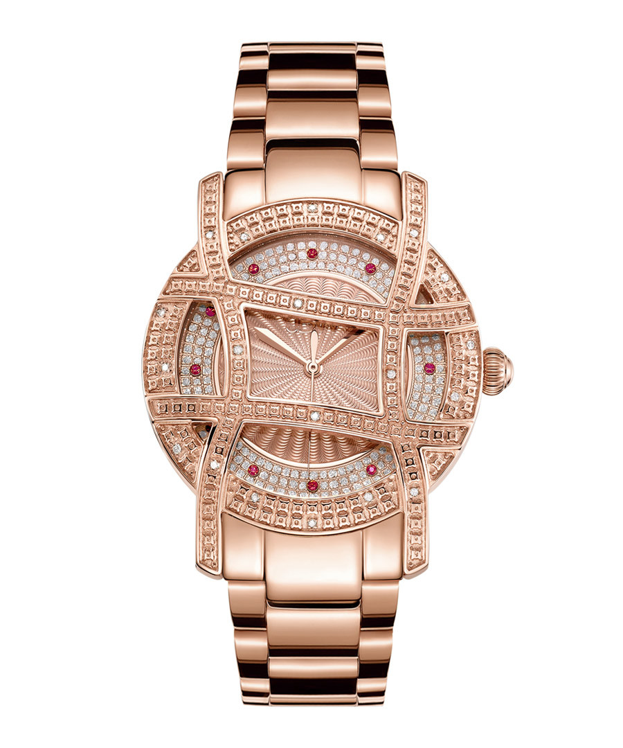 Olympia 18k rose gold-plated diamond watch Sale - jbw