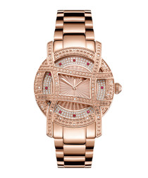 Olympia 18k rose gold-plated diamond watch