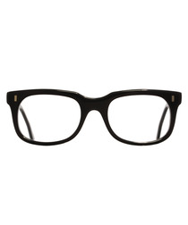 Black squared clear lens glasses