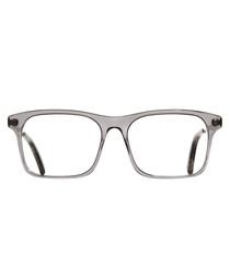 Smoky Quartz squared clear lens glasses