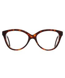 Dark turtle infinity clear lens glasses