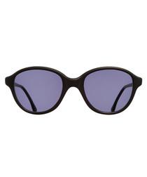 Matt black rounded sunglasses