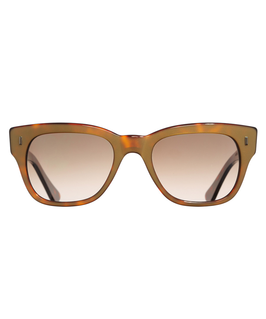 Dark Turtle gold-tone brown sunglasses Sale - cutler and gross