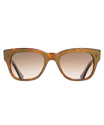 Dark Turtle gold-tone brown sunglasses