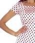 Pink & navy cotton polka midi dress Sale - bergamo Sale