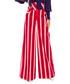Red cotton stripe wide-leg trousers Sale - bergamo Sale