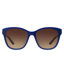 Blue & brown lens rounded sunglasses