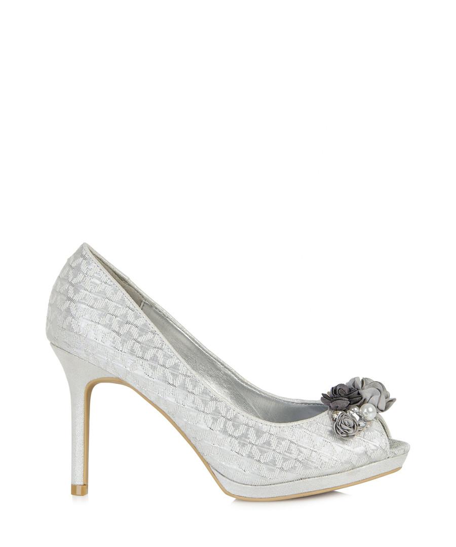 Sonia silver-tone heeled pumps Sale - ruby shoo