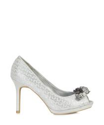 Sonia silver-tone heeled pumps