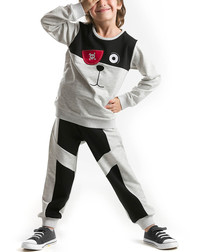 2pc pirate grey cotton blend outfit set