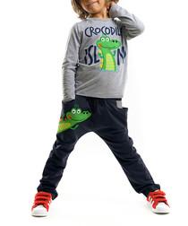 2pc croc print cotton blend outfit set