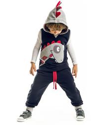 2pc dino theme cotton blend outfit set