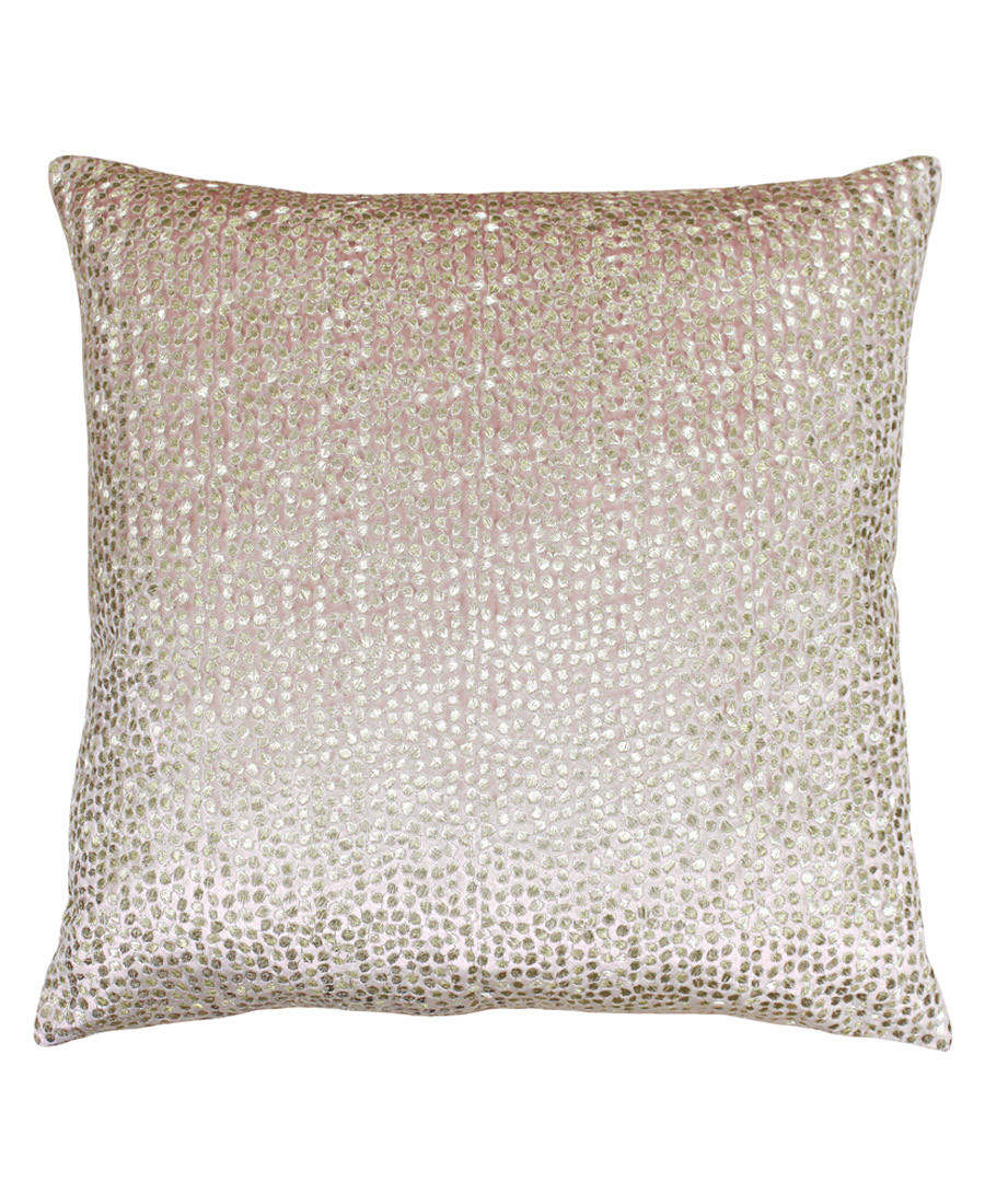 Galaxy blush embroidered cushion 50cm Sale - riva paoletti