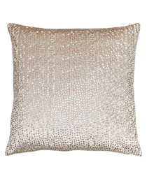 Galaxy blush embroidered cushion 50cm
