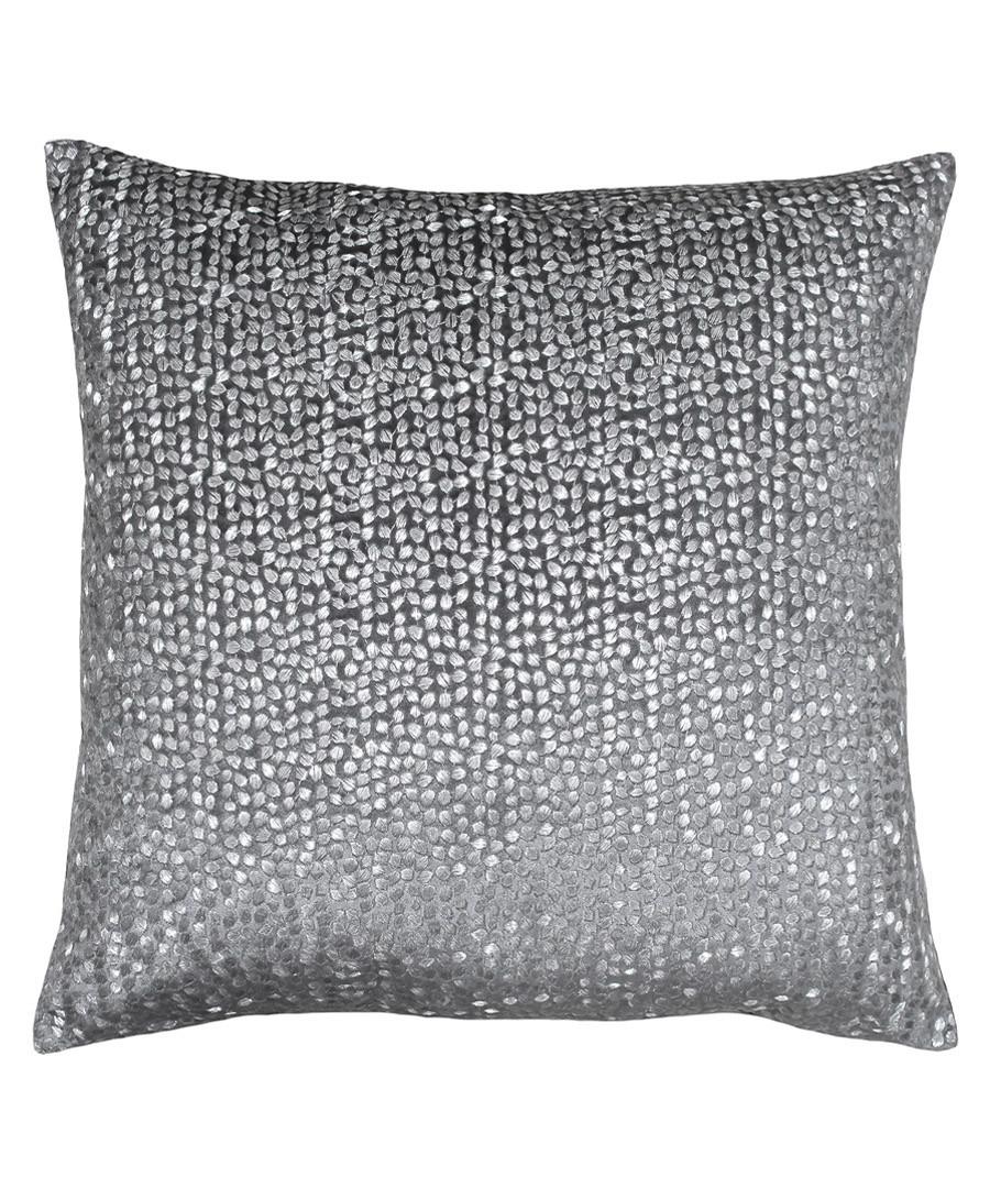 Galaxy grey embroidered cushion 50cm Sale - riva paoletti