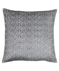 Galaxy grey embroidered cushion 50cm