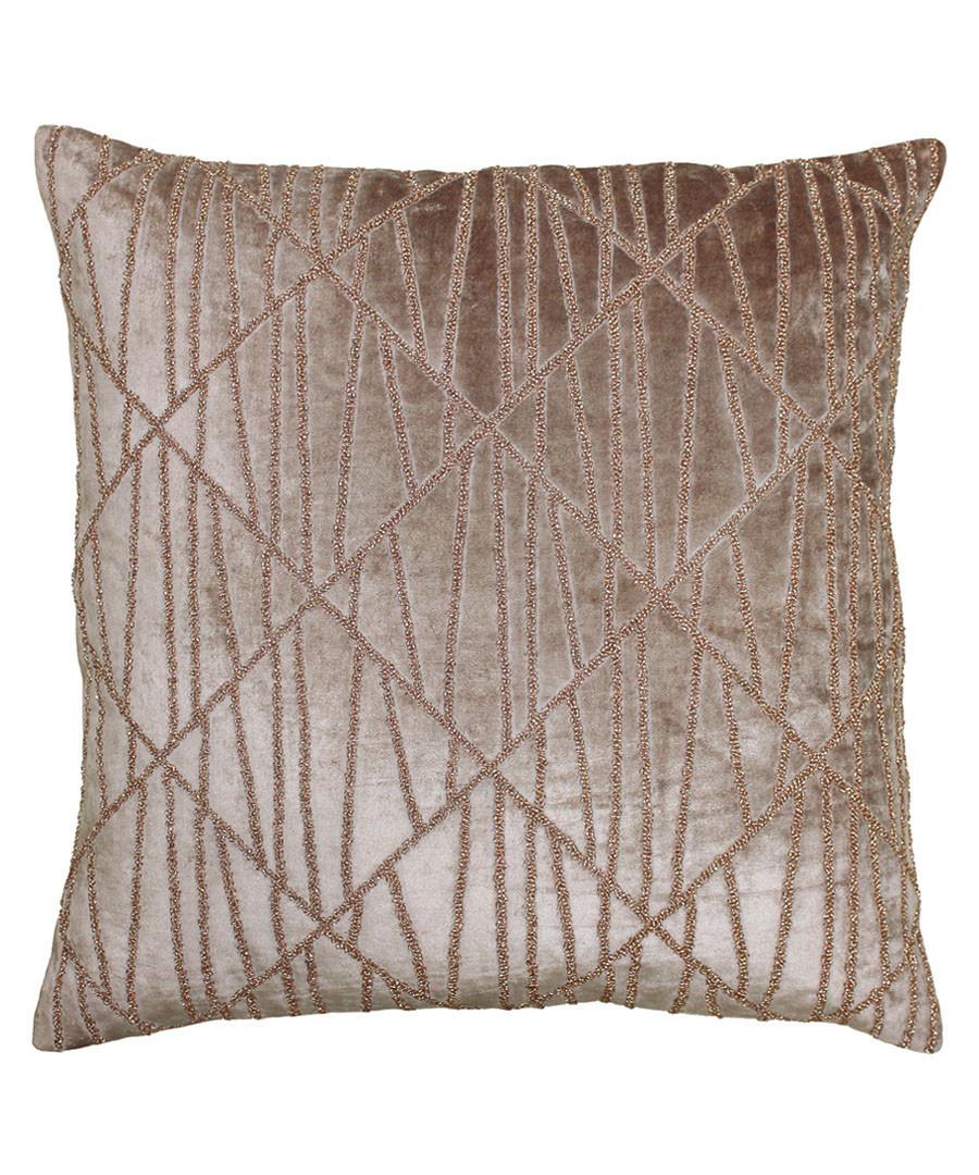 Pluto blush cotton blend cushion 50cm Sale - riva paoletti