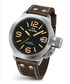 Canteen brown leather strap watch Sale - tw steel Sale
