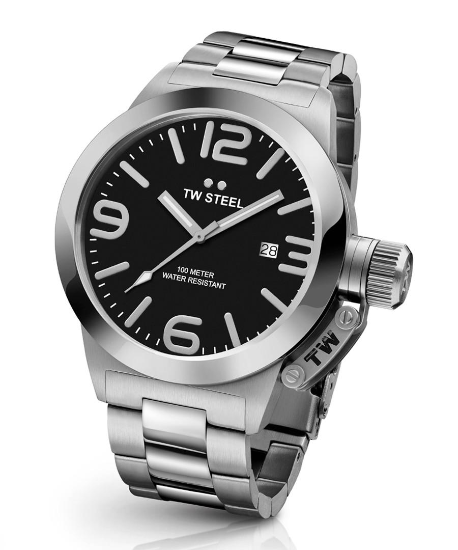 Canteen silver-tone steel quartz watch Sale - tw steel
