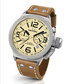 Canteen tan leather strap number watch Sale - tw steel Sale