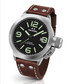 Canteen brown leather strap steel watch Sale - tw steel Sale
