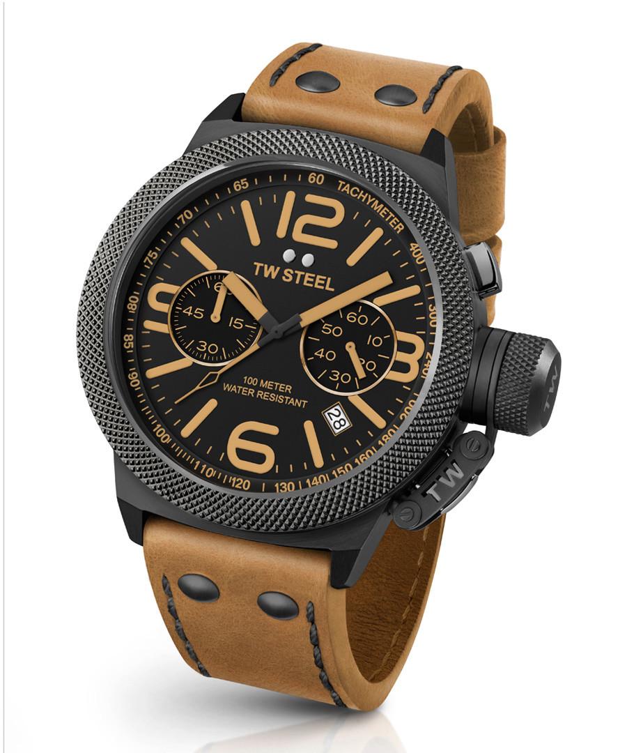 Canteen black & tan leather watch Sale - tw steel