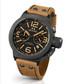 Canteen black & tan leather watch Sale - tw steel Sale