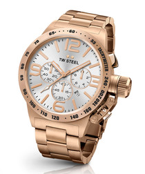 Canteen rose gold-tone metal watch