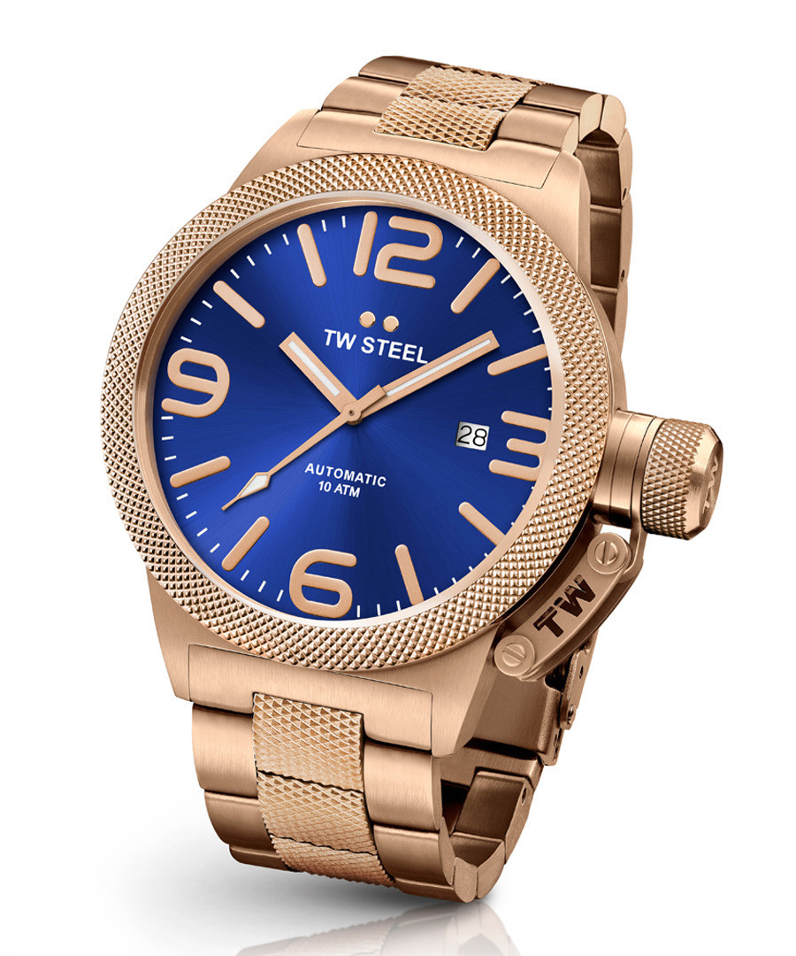 Canteen rose gold-tone metal strap watch Sale - tw steel