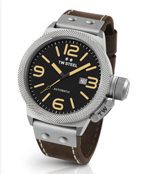 Canteen brown & silver-tone watch