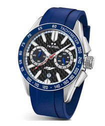 Yahama blue stainless steel watch