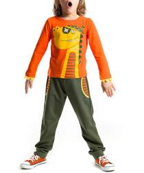 2pc dinosaur cotton blend outfit set