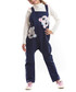 2pc teddy print cotton blend overall set Sale - Mushi Sale