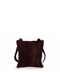 Berry leather cross body bag